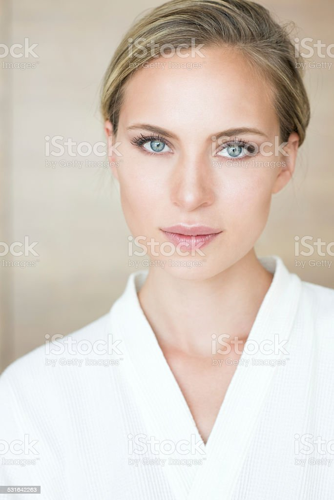 Female Portrait at a SPA stock photo