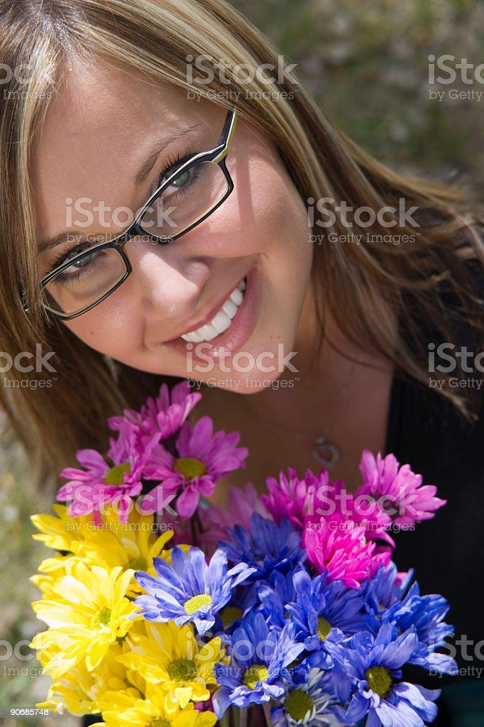 Female Portrait / Flowers royalty-free stock photo