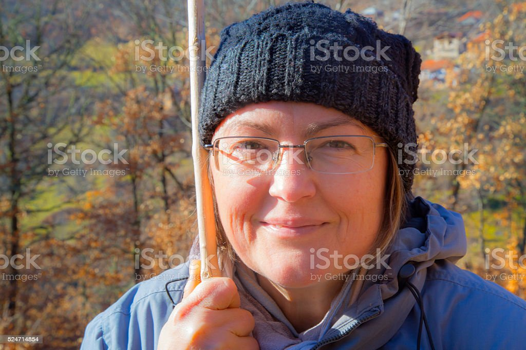 Female portrait in autumn royalty-free stock photo