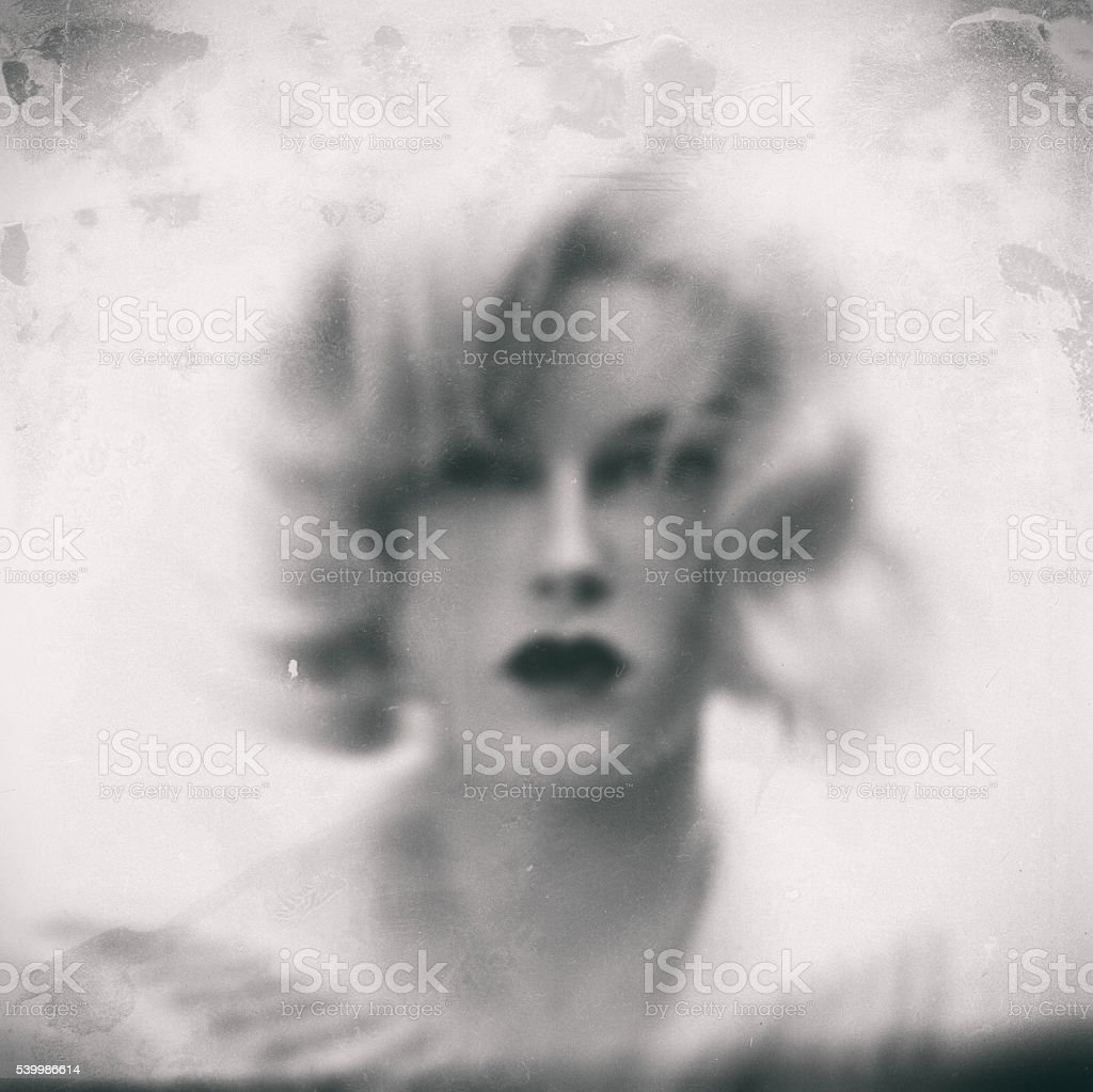 Female portrait. Old style photo stock photo