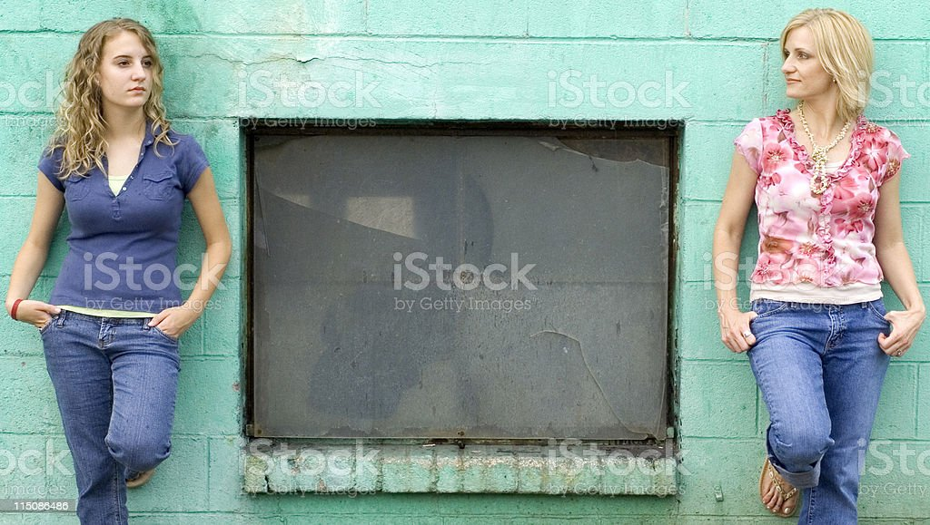 female portrait - space between royalty-free stock photo