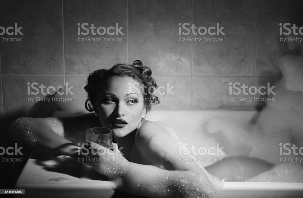 Female portrait.Suds ans Spirit`s royalty-free stock photo