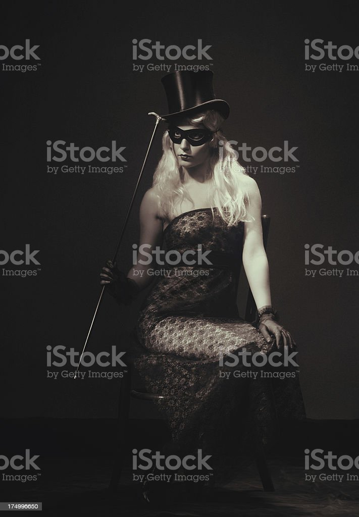 Female portrait,The Carnival is Over! royalty-free stock photo