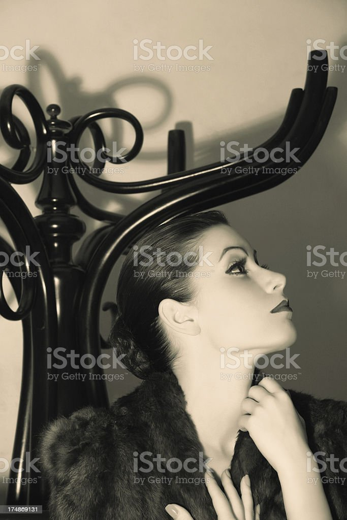 Female Portrait.The Mysterious Lady royalty-free stock photo