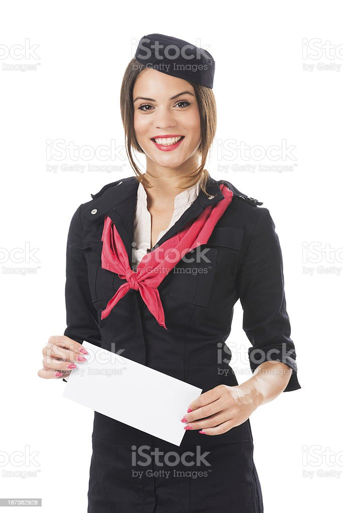 Female post officer royalty-free stock photo