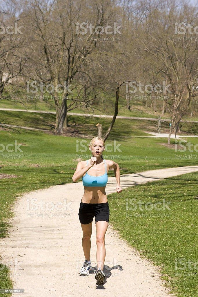 Female Power Walking royalty-free stock photo