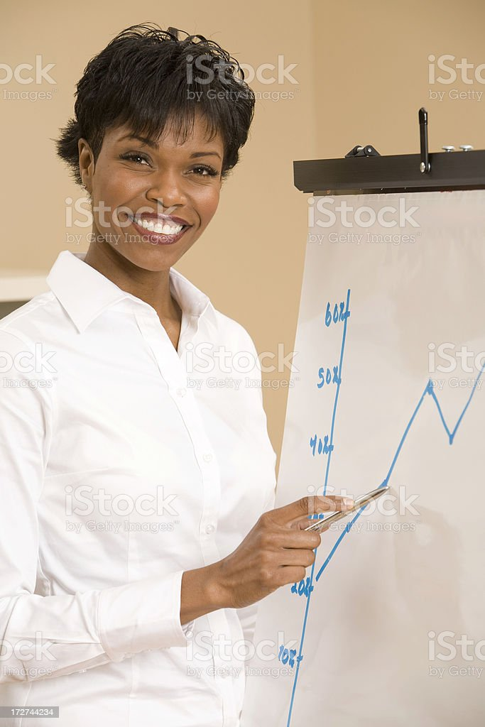 Female Presentation royalty-free stock photo