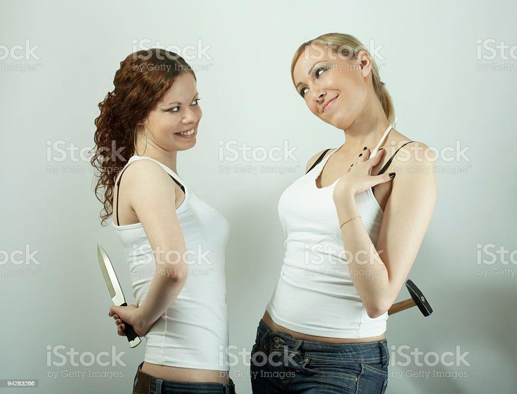 Female pretence stock photo