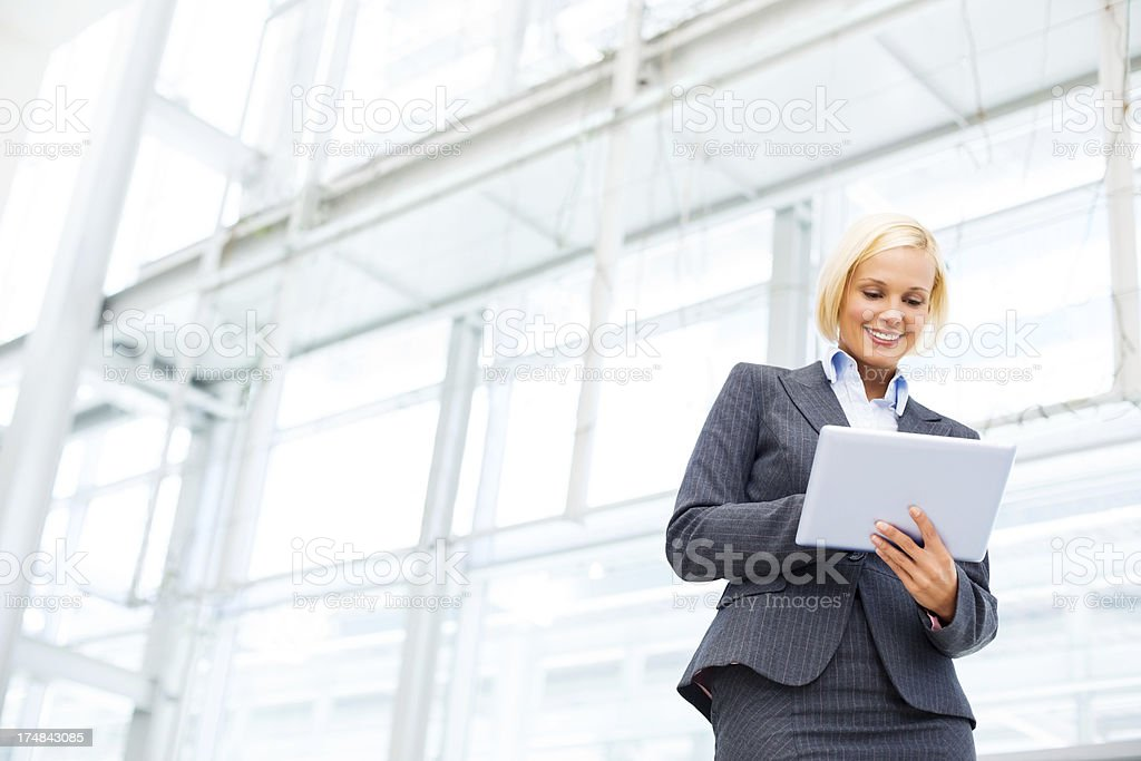 Female Professional Holding Digital Tablet royalty-free stock photo