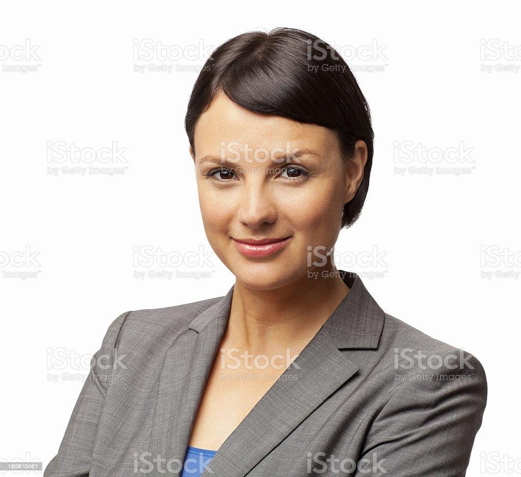 Female Professional Smiling - Isolated royalty-free stock photo