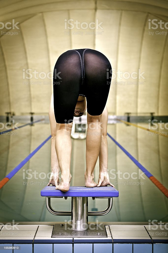Female professional swimmer stock photo