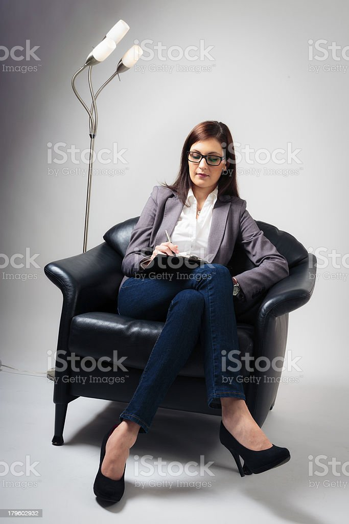 female psychologist listening to you royalty-free stock photo