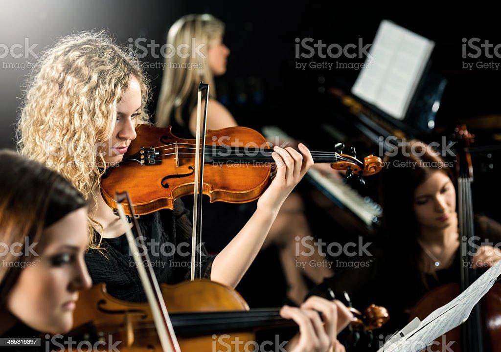 Female quartet. stock photo