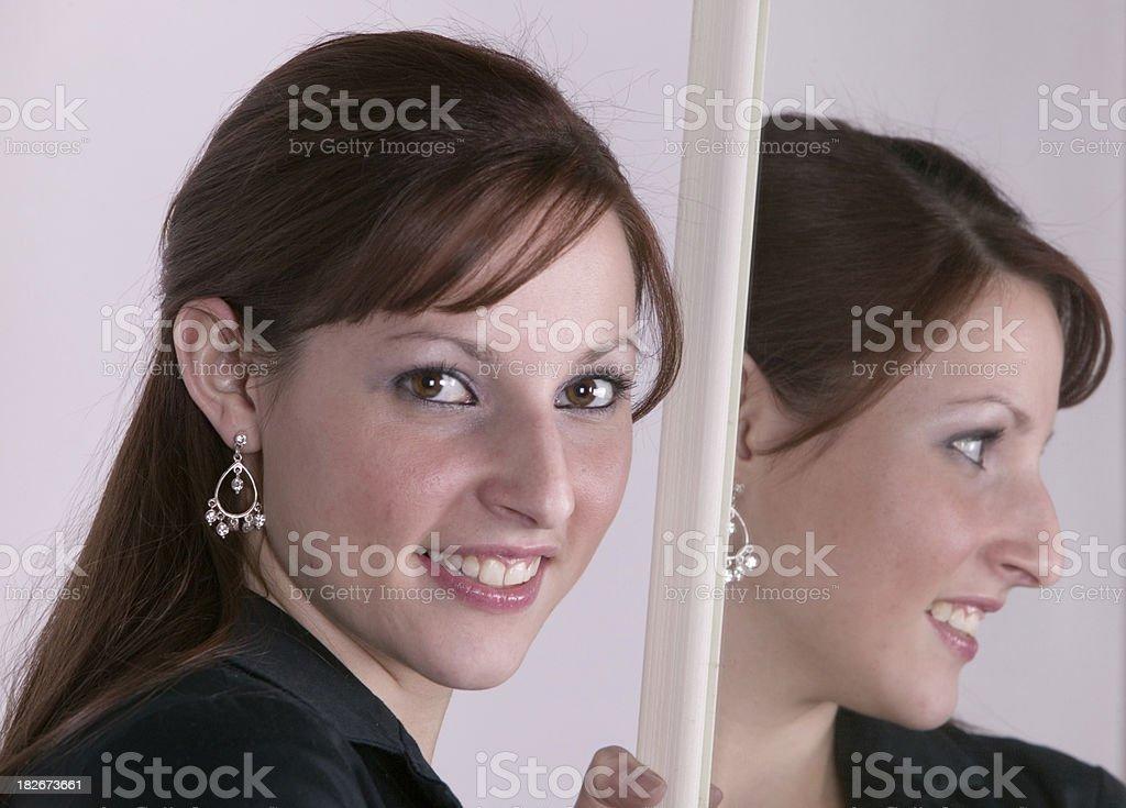 Female reflection royalty-free stock photo