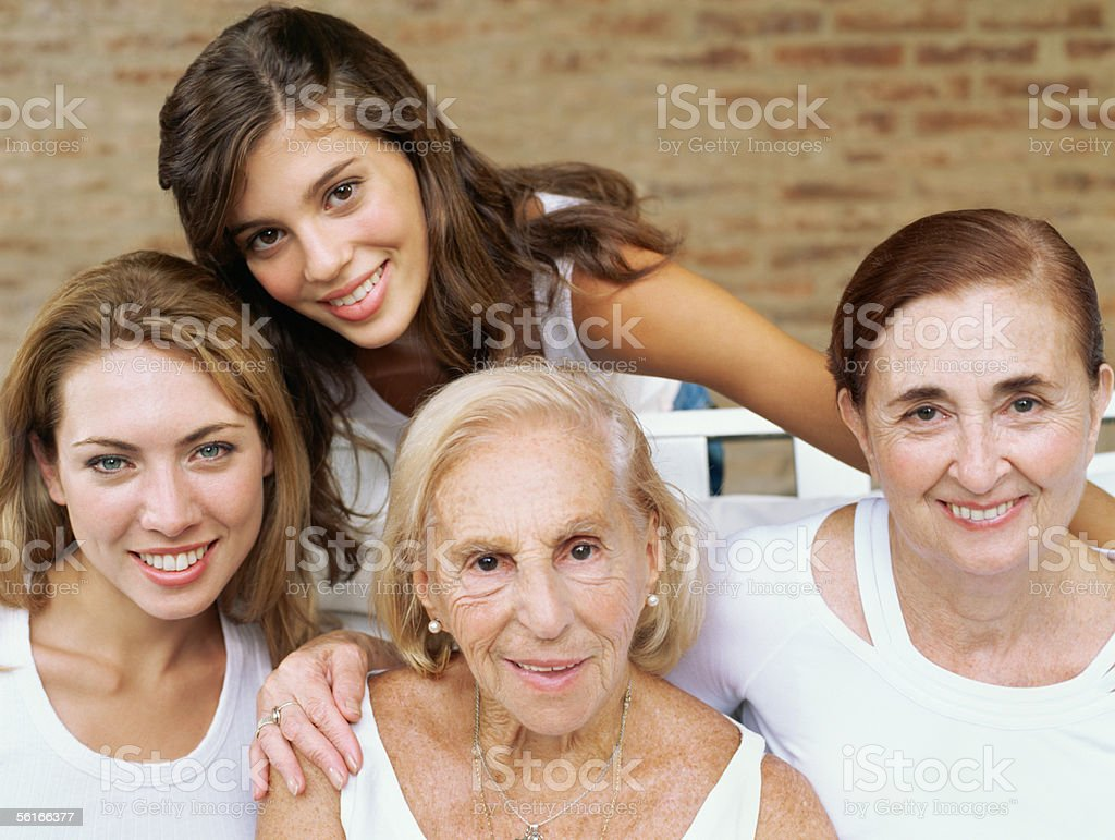 Female relatives stock photo