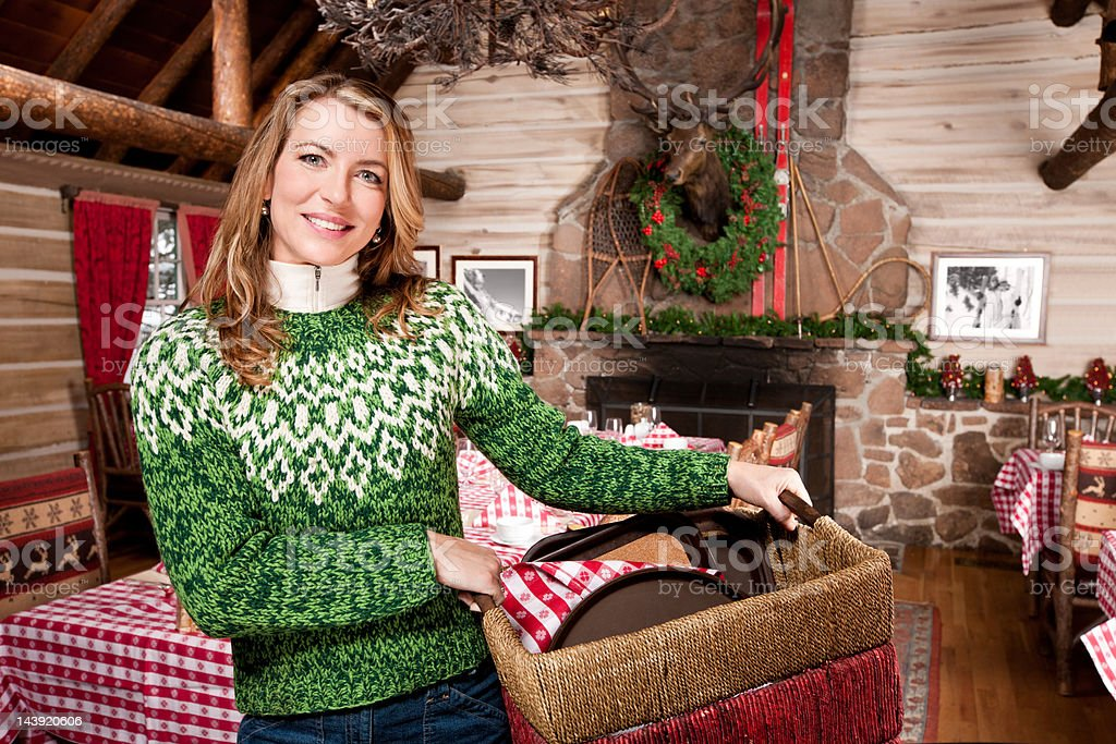 Female Restaurant Owner stock photo