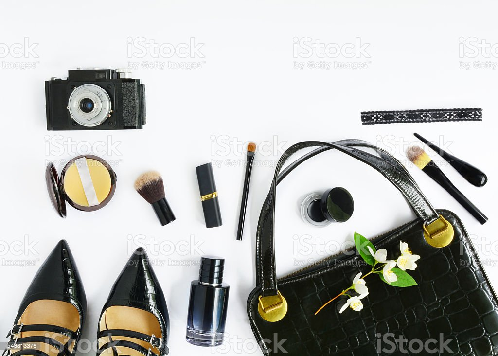 Female Retro Set stock photo