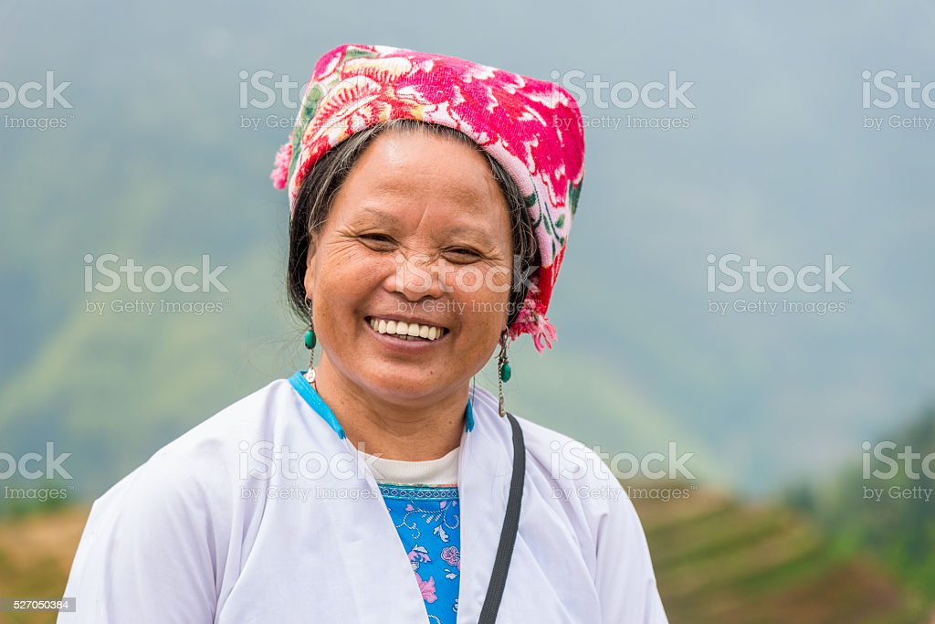 Female Rice farmer Portrait stock photo