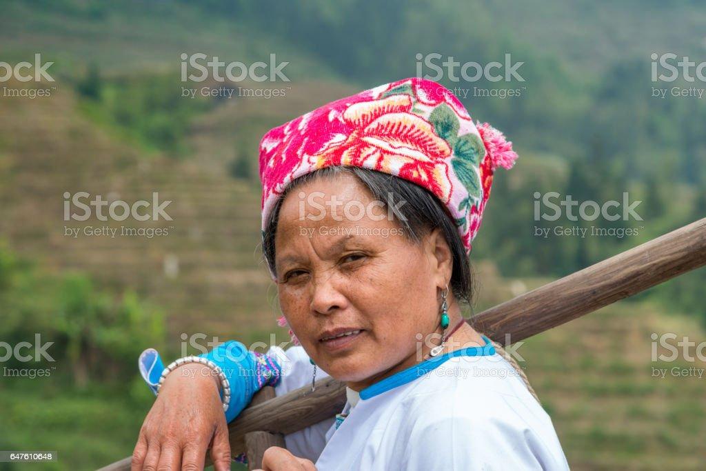 Female Rice farmer Portrait stock photo