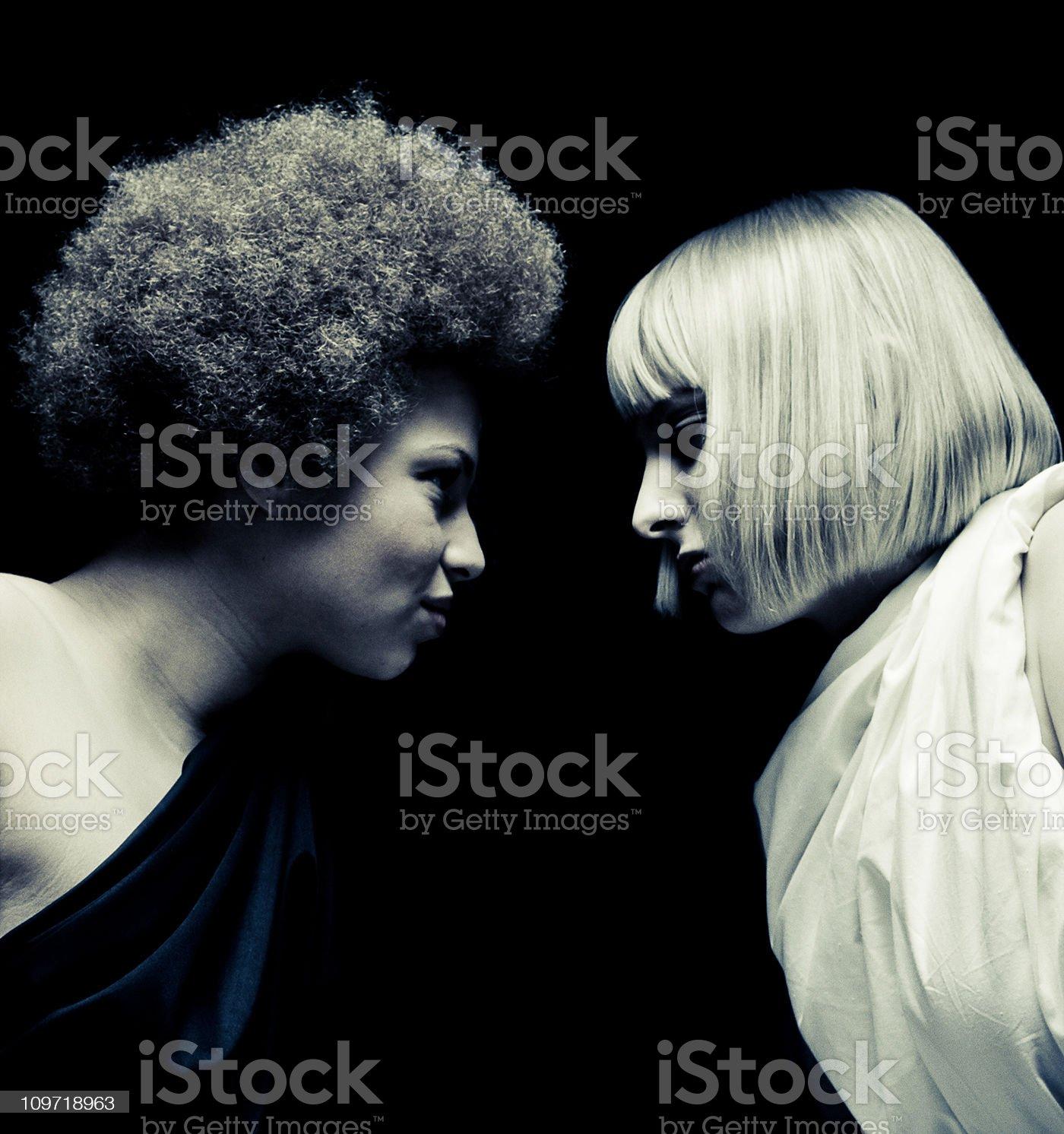 female rivalry royalty-free stock photo