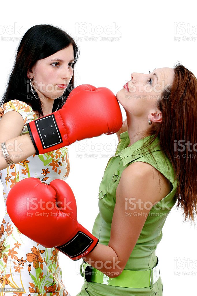 Female rivalry royalty-free stock photo