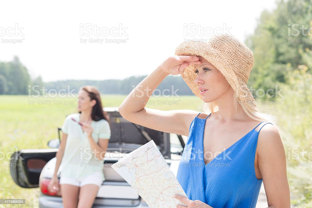Female Road Trip stock photo