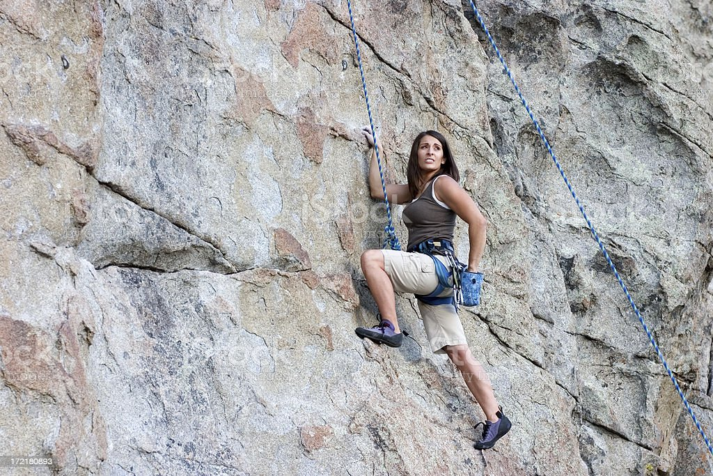 Female rock climber royalty-free stock photo