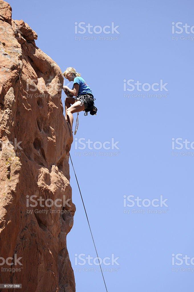 Female Rock Climber royalty-free stock photo