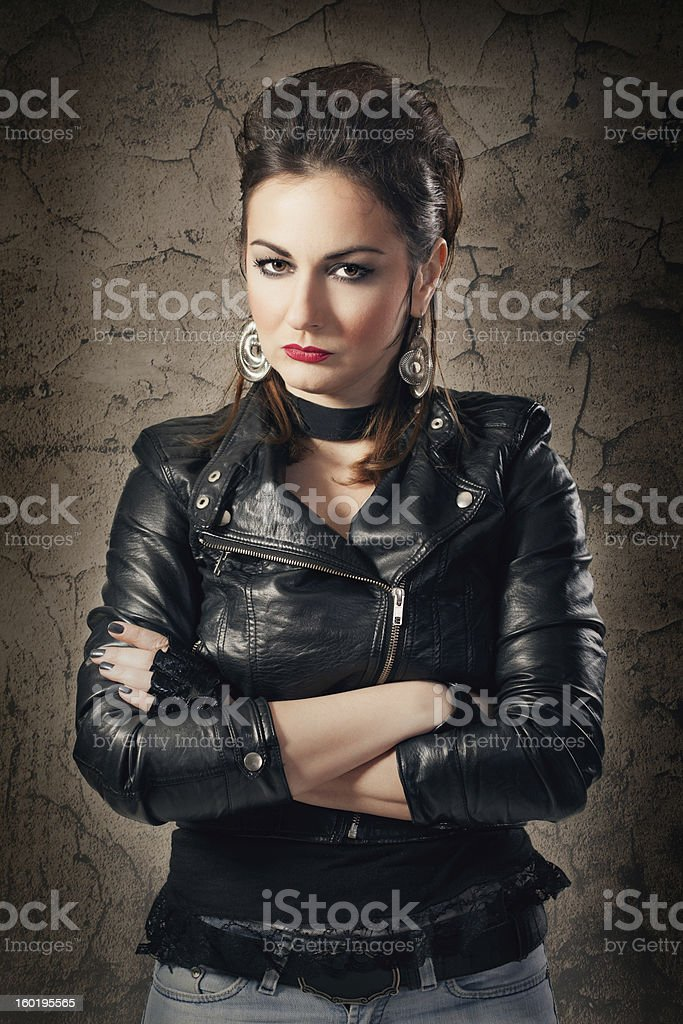 Female rock star royalty-free stock photo