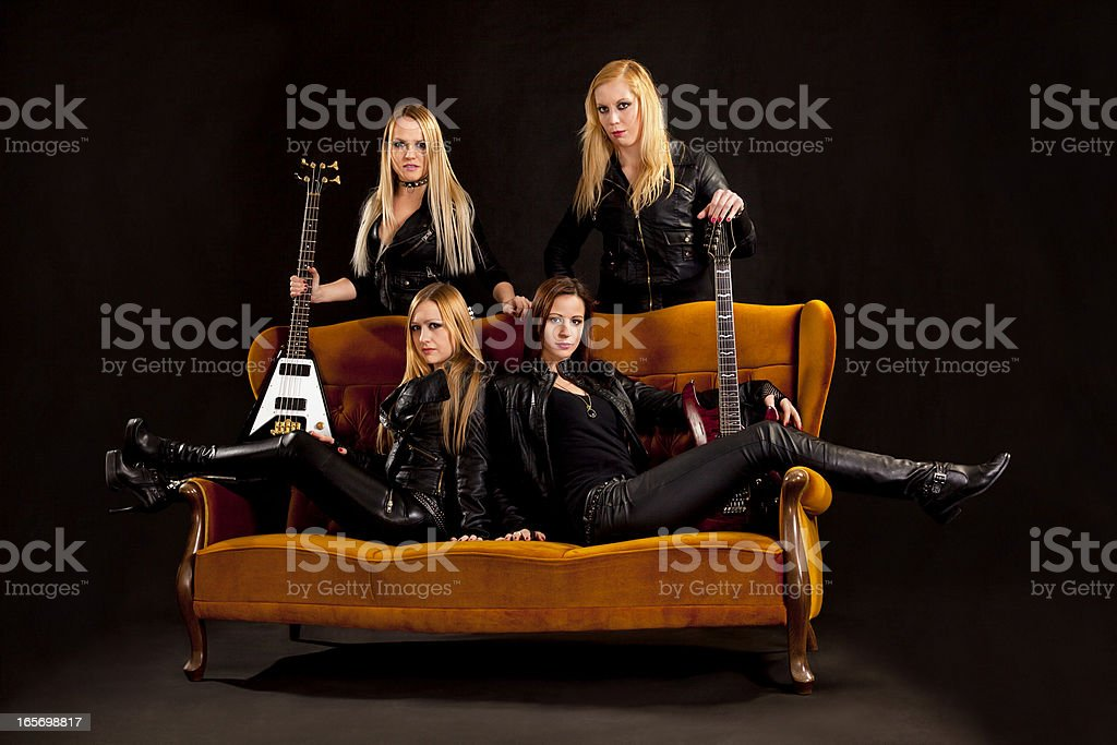 Female Rock Stars royalty-free stock photo