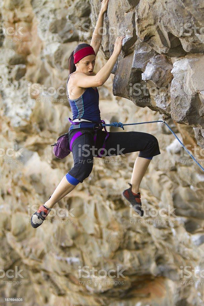 Female Rockclimber royalty-free stock photo