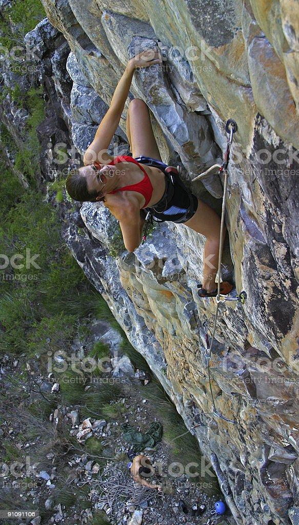 Female Rockclimber stock photo