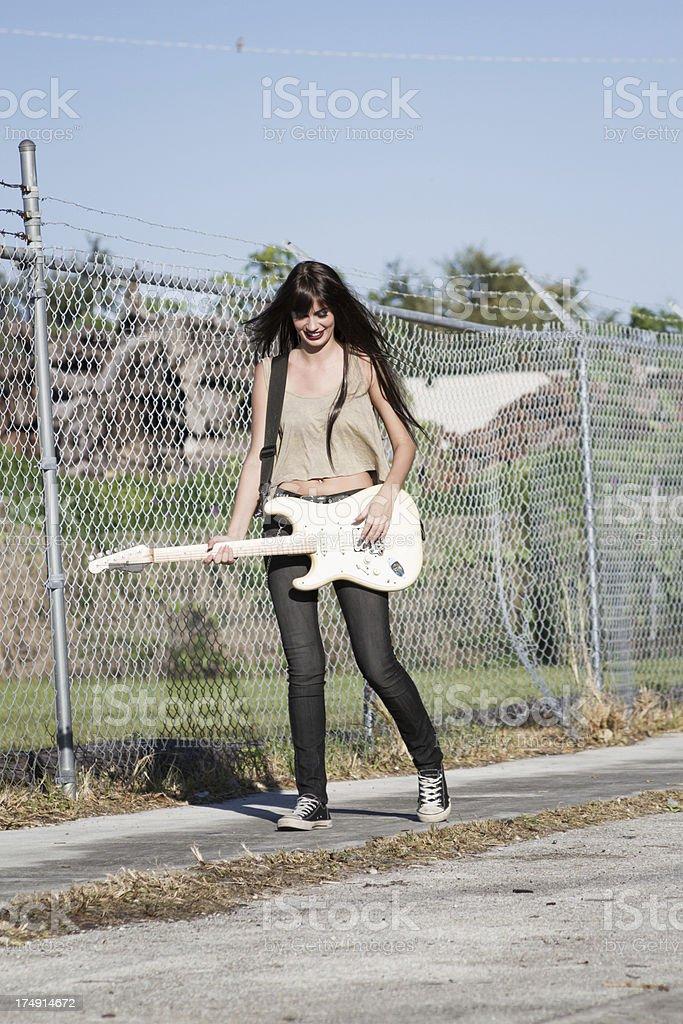 Female rocker royalty-free stock photo