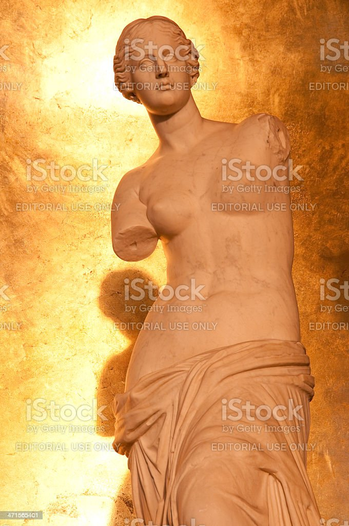 Female Roman Statue at Caesars Palace royalty-free stock photo