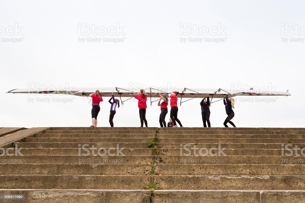 Female Rowing Team stock photo