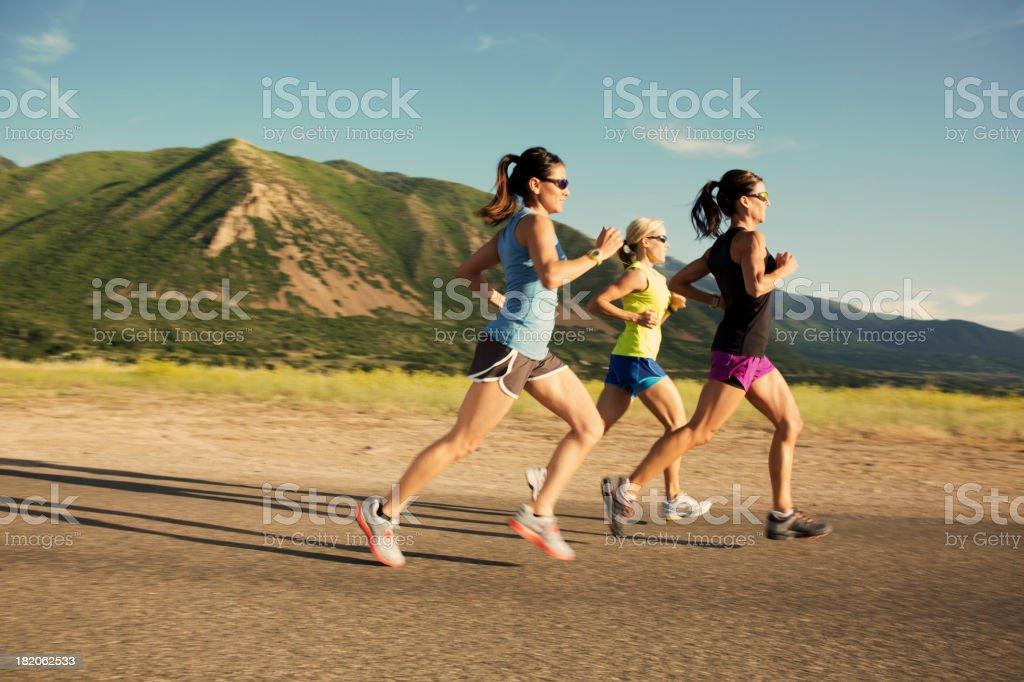 Female Run Group royalty-free stock photo