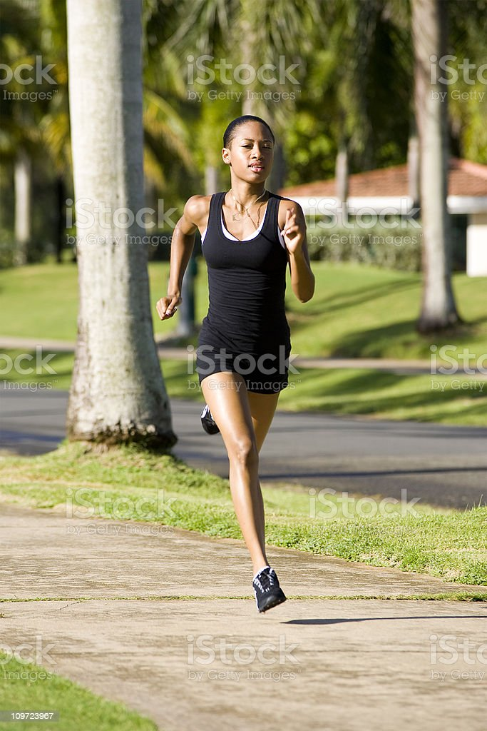 Female Runner royalty-free stock photo