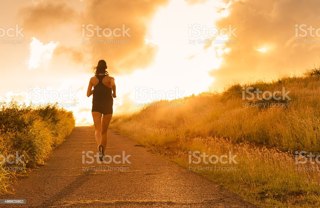 Female runner stock photo