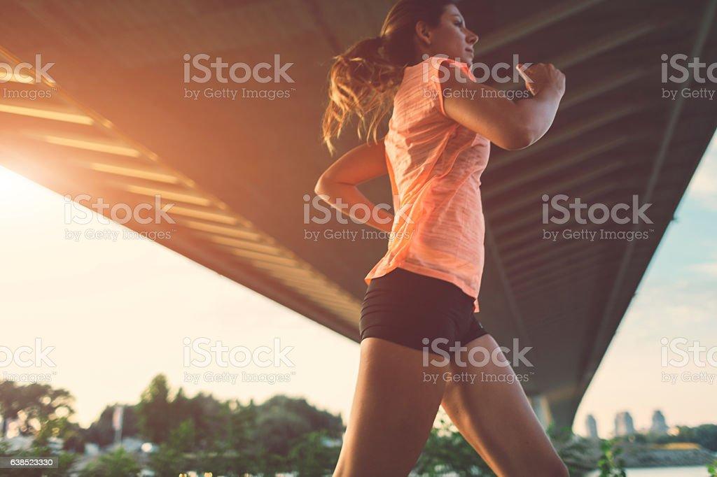 Female Runner. stock photo