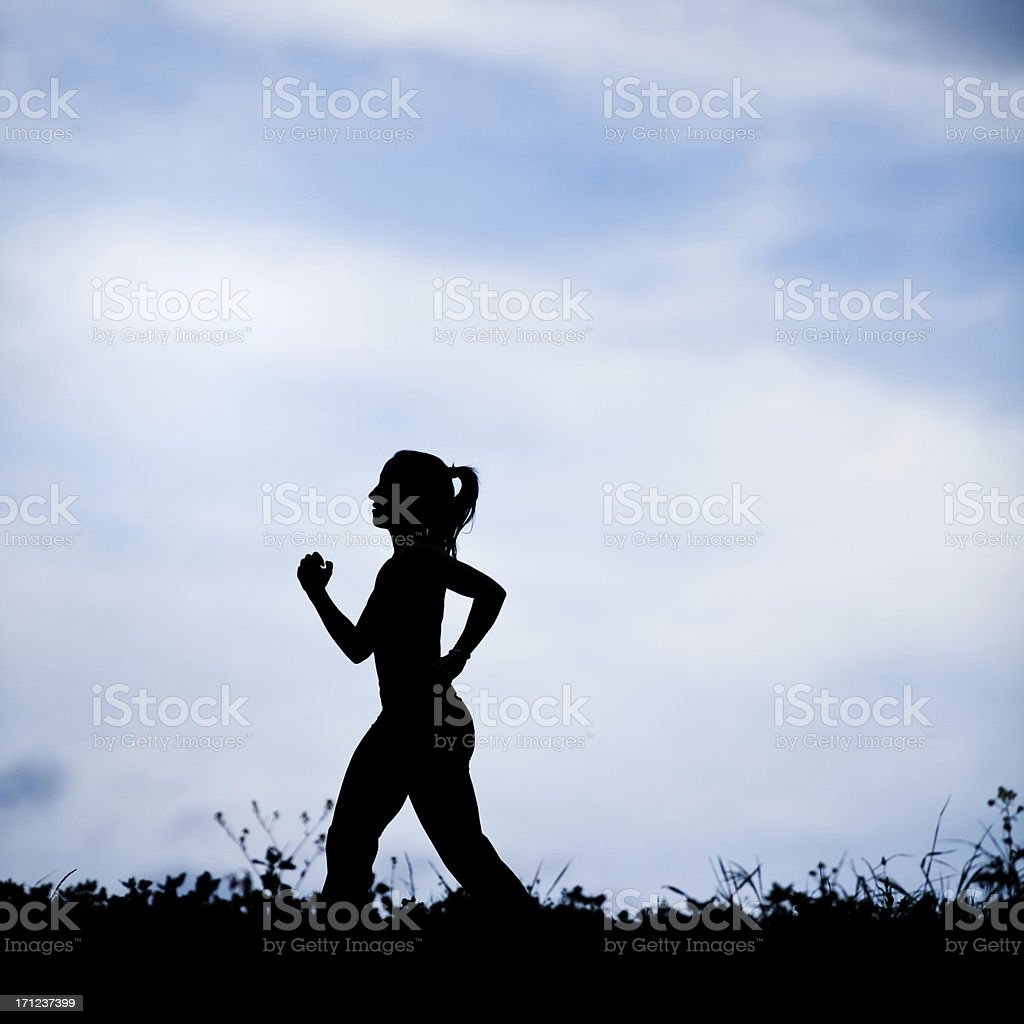 Female running royalty-free stock photo