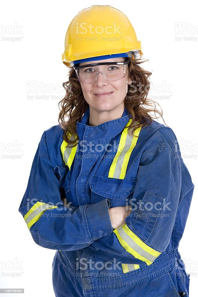 Female Safety Worker royalty-free stock photo