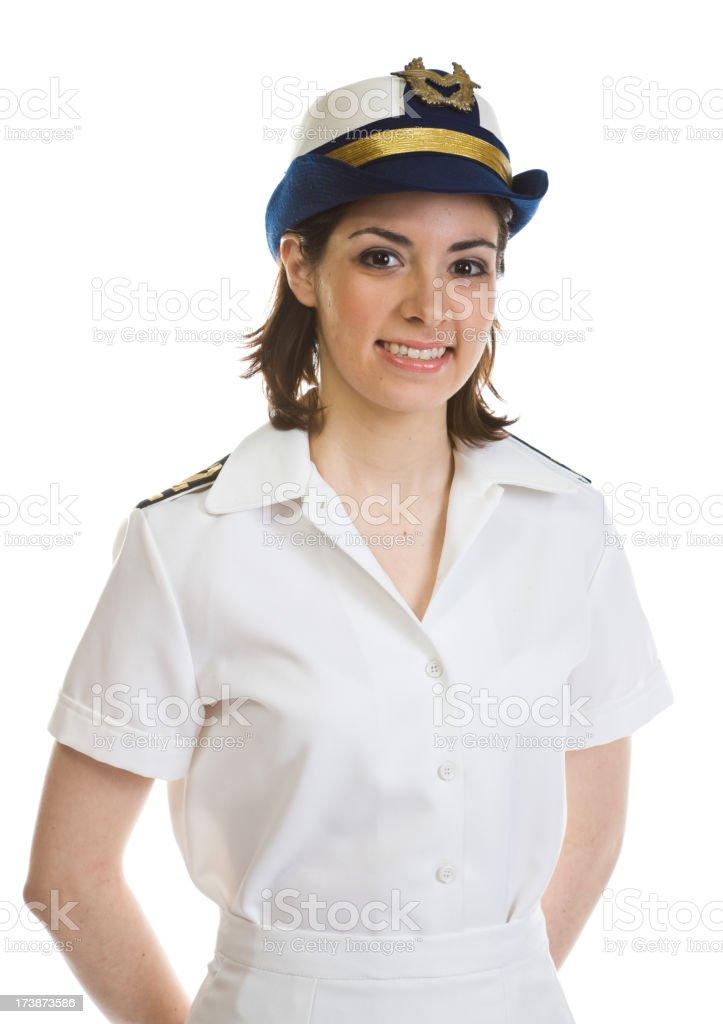 Female sailor royalty-free stock photo