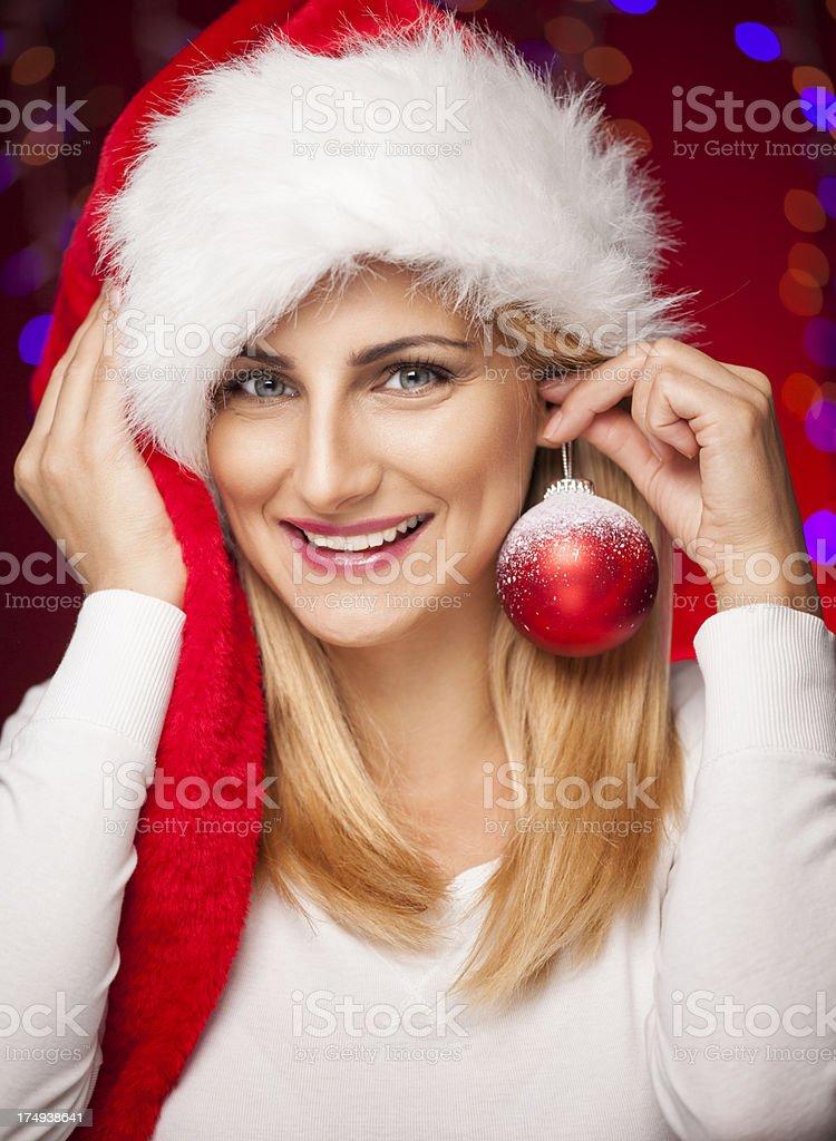 Female Santa royalty-free stock photo