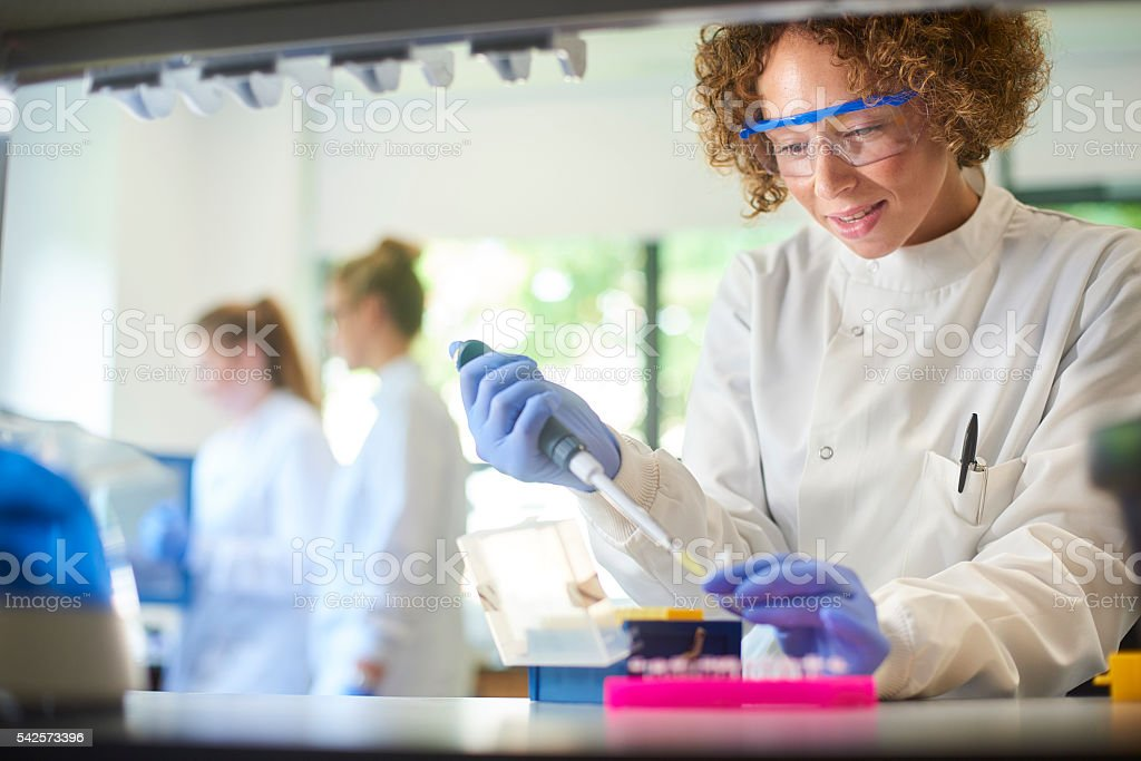 female science stock photo
