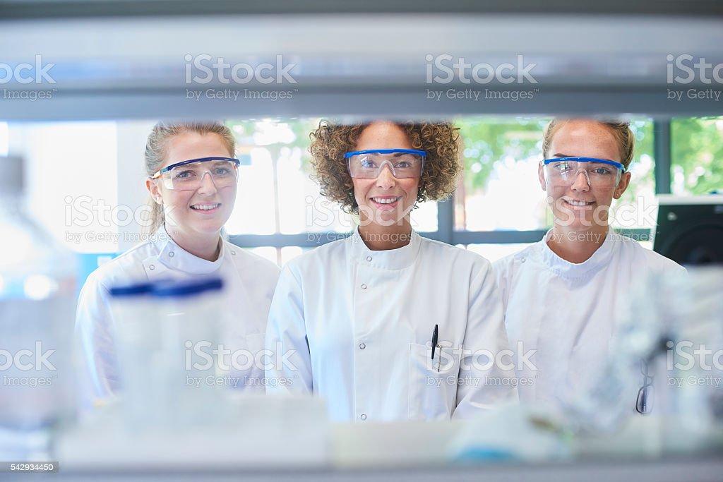 female science stock photo