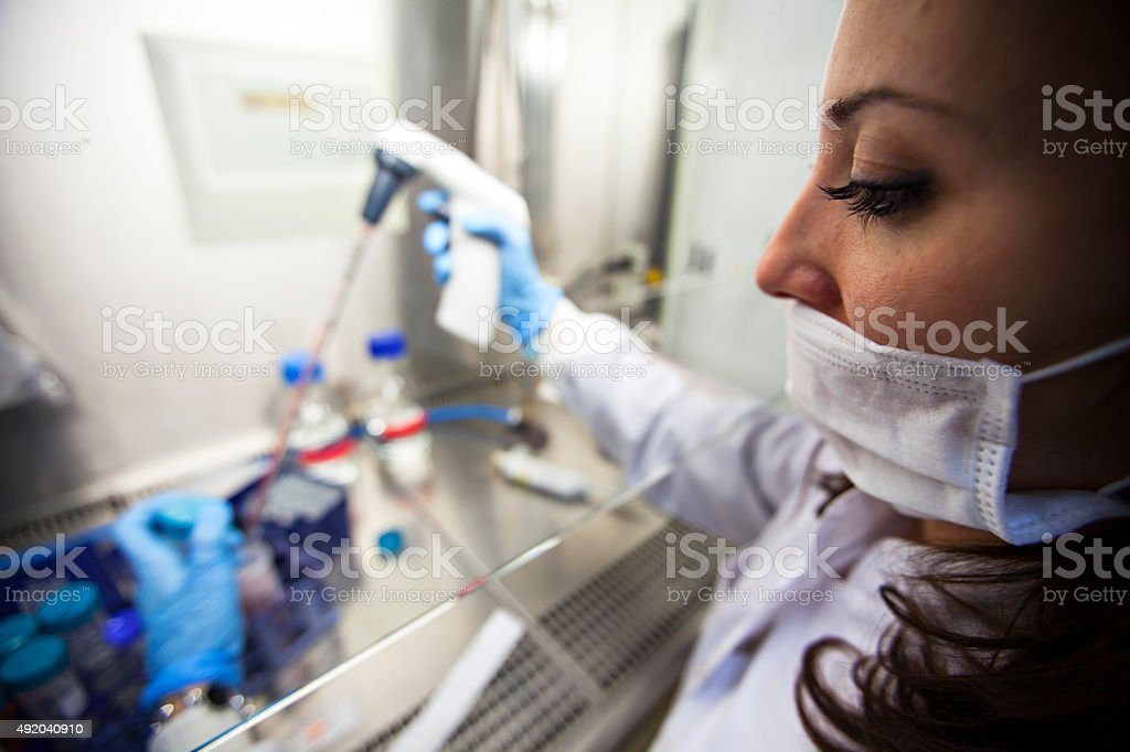 female scientist stock photo