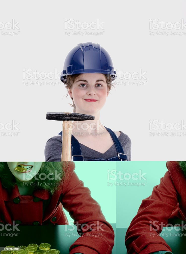 Female Scrooge Concept royalty-free stock photo