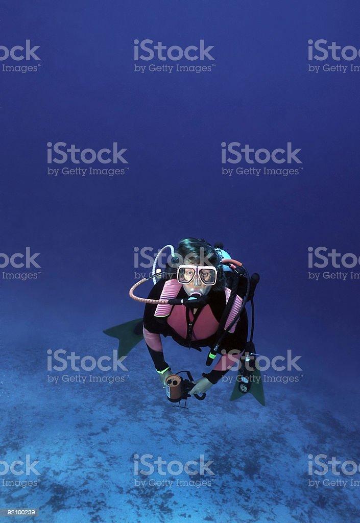 Femme plongée sous-marine photo libre de droits