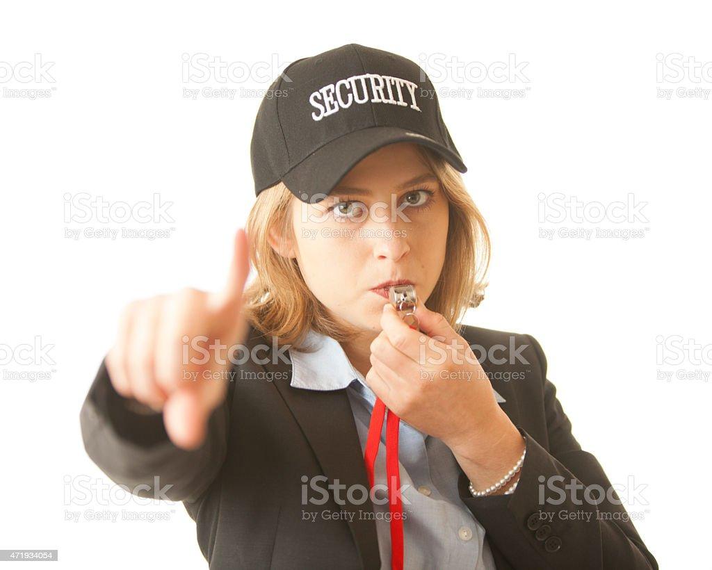 Female Security Guard stock photo