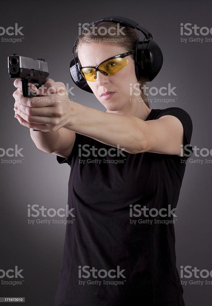 Female self defense series stock photo